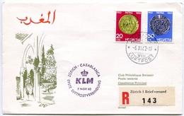 RC 6698 PAYS-BAS KLM 1962 1er VOL ZURICH - CASABLANCA MAROC FFC NETHERLANDS LETTRE COVER - Airmail
