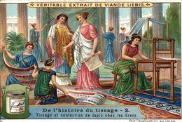 LIEBIG   DE LHISTOIRE DU TISSAGE  2 TISSAGE ET CONFECTION DE TAPIS CHEZ LES GRECS - Liebig
