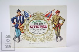 Vintage 1980's American Civil War 1861-1865 Playing Cards - Single Deck By H. Fournier, Spain - New - Playing Cards (classic)