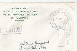 Vieux Papiers Enveloppe Tampon Office Postes De La Republique Islamiste De Mauritanie - Seals Of Generality