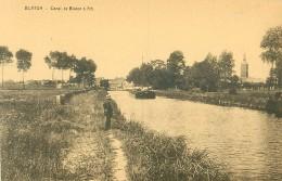 Belgique. N°38259 .blaton .canal A Ath.peniche - Bernissart