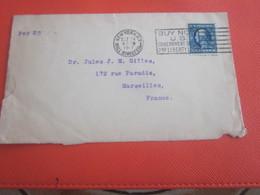 Per SS--1917 WW1 Letter Air Mail Amérique New-York Wall-Street Etats-Unis United States America Marcophilie P-Marseille - Brieven En Documenten
