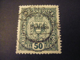TRENTINO-1918, Austria Soprast, Sass. N. 11, 50 H. Usato TTB, OCCASIONE - Trentino