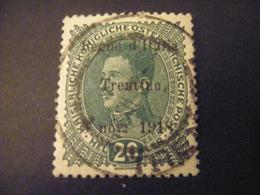 TRENTINO-1918, Austria Soprast, Sass. N. 7, 20 H., Usato, TTB, OCCASIONE - Trentino