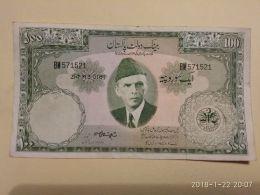 100 Rupees 1957 - Pakistan
