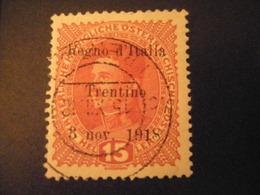 TRENTINO-1918, Austria Soprast, Sass. N. 6, 15 H., Usato, TTB, OCCASIONE - Trentino