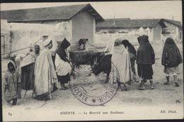 Guerre 14 Cachet Infirmerie De Garnison Bizerte Déesse Ministère De La Guerre Tunis Censure Hôpital Massevaux Zouave FM - Tunisia (1888-1955)