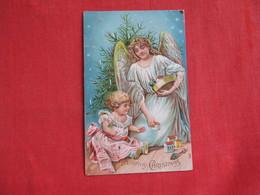Angel Embossed  Merry Christmas  Ref 2820 - Angels