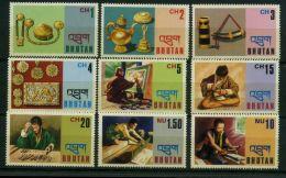 BHOUTAN ( POSTE ) :Y&T N°  457/465  TIMBRES  NEUFS  SANS  TRACE  DE  CHARNIERE , A  VOIR . - Bhoutan