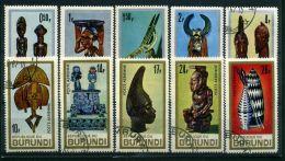 BURUNDI ( POSTE/AERIEN ) :Y&T N°  233/237 + PA  52/56  TIMBRES  BIEN  OBLITERES , A  VOIR . - 1962-69: Oblitérés