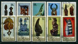 BURUNDI ( POSTE/AERIEN ) :Y&T N°  233/237 + PA  52/56  TIMBRES  BIEN  OBLITERES , A  VOIR . - Burundi