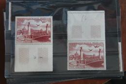1949   CONGRES  DU  C  .  I  .  T  .  T .    X  2  EXEMPLAIRES   FRAICHEUR  POSTALE  ** - Poste Aérienne