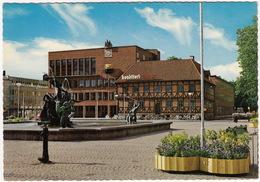 Halmstad - Radhuset Med 'Europa Och Tjuren' Av Carl Milles - (Sweden) - Zweden