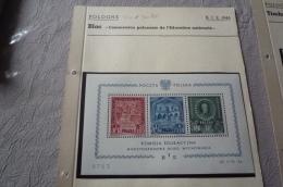Pologne N° 43435 . Bloc Et Timbres De B.I.E .tres Forte Cote.NEUF°° - Blocks & Sheetlets & Panes