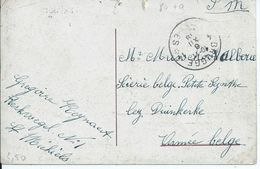 Zichtkaart Brugge Met Doorstreepte Plaatsnaam ( Voorschrift Van De Censuur) - Afstempeling BRUGGE 14  - 6.XII.18 - Oorlog 14-18