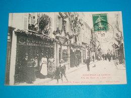"""85 ) Fontenay-le-comte - N° 105 - Fête Des Fleurs Du 2 Juin 1907 """" Magasin E. BUSSAUD / TAPISSIER- EDIT : Guiller - Fontenay Le Comte"""