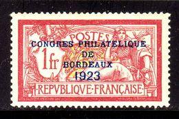 N° 182 Neuf* (Congrès Bordeaux 1923 Signé CALVES)  COTE= 862,50 Euros !!! - Ungebraucht