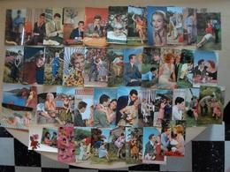 LOT DE 42 CP KITSCH Des Années 60 - HOMMES - FEMMES - COUPLES - JANE MANSFIELD - Altri