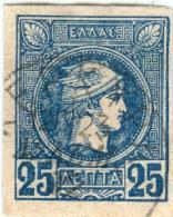 1A 210 Greece Small Hermes Heads 2nd ATHENS PRINT 1891-1896 25 Lep  Hellas 90 Blue - 1886-1901 Small Hermes Heads