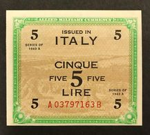 5 Am Lire Bilingue Serie A.......B Sup/ Fds   LOTTO 090 - [ 3] Military Issues