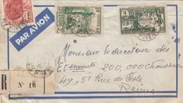 LETTRE COTE D'IVOIRE. 29 10 38. RECOMMANDE ABIDJAN  POUR LA FRANCE - Côte-d'Ivoire (1892-1944)