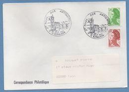 BT Bureau Temporaire 3é Foire Antiquités Espalion 1985 / N° 2321 + 2179 Voy TB - Marcophilie (Lettres)