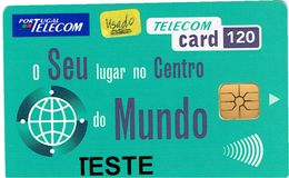 PHONECARDS-PORTUGAL --TESTE CARD --- 120U---O SEU LUGAR-.... - Portugal