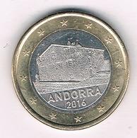 1 EURO 2016 ANDORRA /2016G/ - Andorre