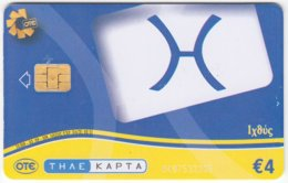 GREECE D-666 Chip OTE - Signs Of Zodiac, Pisces - Used - Greece