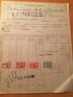 20-4-1938-BRUXELLES-ETABLISSEMENTS MATHON &DUBRULLE-VALORE FISCALI - 1900 – 1949