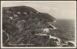 The Cliffs, Polperro, Cornwall, 1964 - Harvey Barton RP Postcard - England