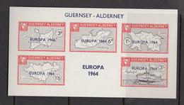Alderney Commodore (Guernsey) - Europa 1964 Miniature Sheet - Unmounted Mint NHM - Alderney