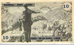 CUBA/KUBA SPLENDIDO BUONO - BOND DA 10 $  - FIDEL CASTRO MOVIMIENTO 26 DE JULIO - MOLTO RARO - Cuba