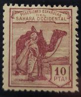 Sahara N° 12. Numeración 0 Al Dorso. Sin Charnela. - Spanische Sahara
