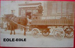 51 - Carte Photo - REIMS Ou Environs - Livreur Societe Maison PRAT - Livraison - Attelage - Cafe - Devanture - Reims