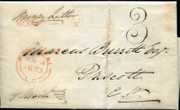 30111  Canada, Money Letter 1853 From Montreal To Prescott - Kanada