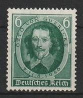 Deutsches Reich / 250. Todestag Von Otto Von Guericke /  MiNr.: 608 - Deutschland