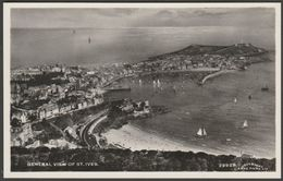 General View Of St Ives, Cornwall, C.1940s - Harvey Barton RP Postcard - St.Ives