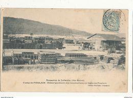 52 CAMP DE FOULAIN DEBARQUEMENT DES LOCOMOTIVES EN GARE DE FOULAIN CPA BON ETAT - France