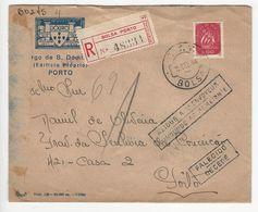 Cover * Portugal * 1944 * Bolsa (Porto) * Registered * Devolvido * Falecido - Lettres & Documents