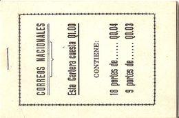 GUATEMALA, Booklet 1, 1946, Q 1.00 27x3, 18x1c Superbe - Guatemala
