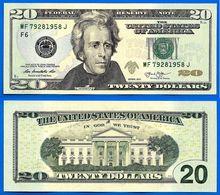 USA 20 Dollars 2013 Neuf UNC Mint Atlanta F6 Suffixe J Etats Unis United States Dollars US Paypal Skrill Bitcoin OK - Bilglietti Degli Stati Uniti (1862-1923)