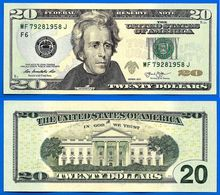 USA 20 Dollars 2013 Neuf UNC Mint Atlanta F6 Suffixe J Etats Unis United States Dollars US Paypal Skrill Bitcoin OK - Large Size - Taglia Grande (...-1928)