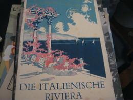 DEPLIANT RIVIERA-FERROVIE DELLO STATO-ENTE NAZIONALE INDUSTRIE TURISTICHE - Dépliants Touristiques