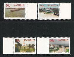 NAMIBIA - 1992 - 4 VALORI NUOVI S.T.L. - CENTENARIO DELLA CITTA' DI SWAKOPMUND - IN OTTIME CONDIZIONI. - Namibia (1990- ...)