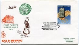 RC 6727 GRECE OLYMPIC AIRWAYS 1979 1er VOL ATHENS - PARIS FRANCE GREECE FFC LETTRE COVER - Airmail