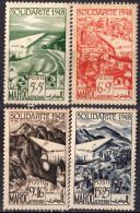 MAROC - Au Profit Des œuvres De Solidarité 1949 Poste Aérienne - Neufs