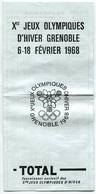 RC 6731 - 1968 JEUX OLYMPIQUES D'HIVER DE GRENOBLE  PROGRAMME EPREUVES ET TARIFS - PUBLICITÉ TOTAL - Olympics