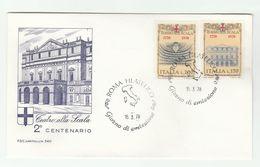1978  ITALY FDC SCALA THEATRE Stamps Opera Music Cover - Theatre