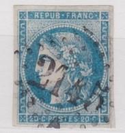 FRANCE YT N°46 A  OBLITERE - 1870 Emission De Bordeaux